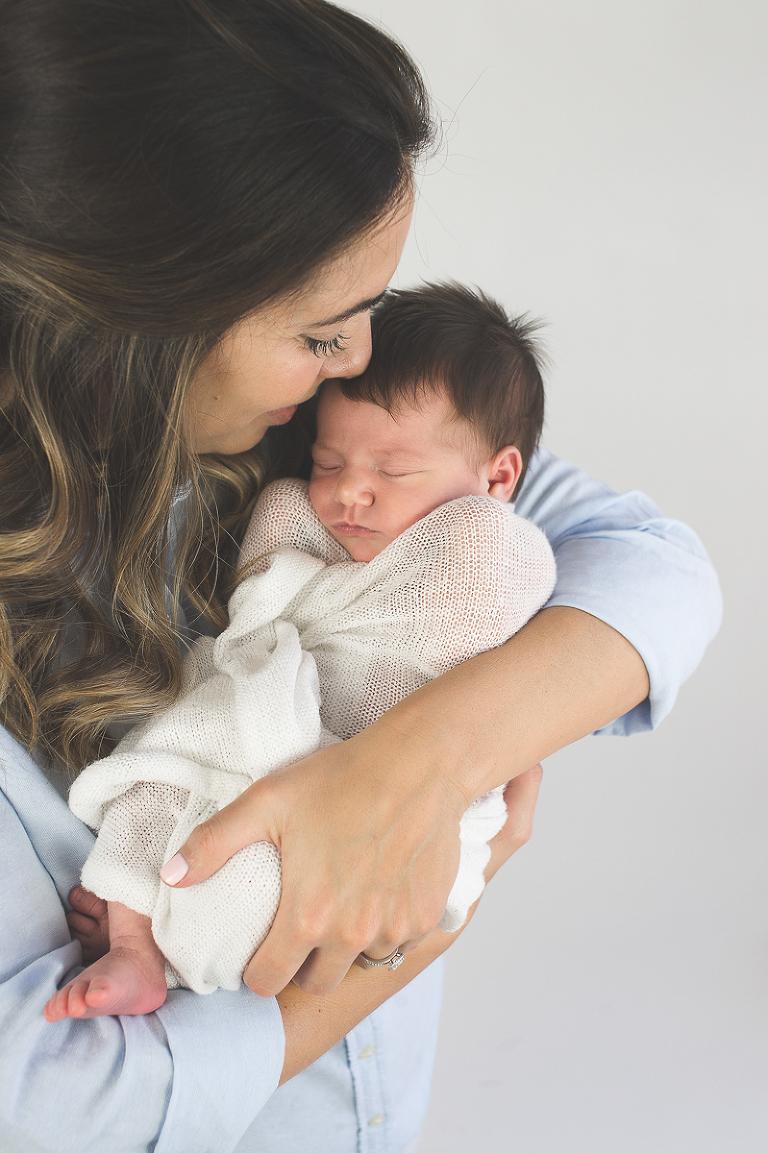 mother newborn portrait
