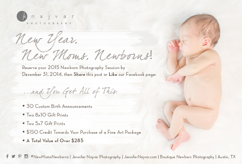 NEW YEAR NEW MOMS NEWBORNS Special YearEnd Offer for Moms – New Years Birth Announcements
