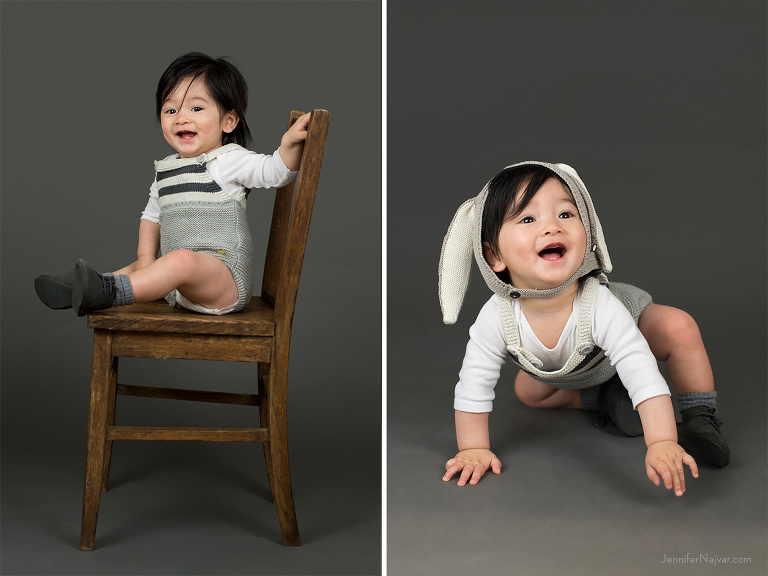 8-Month-Old Baby Boy Photos for Easter